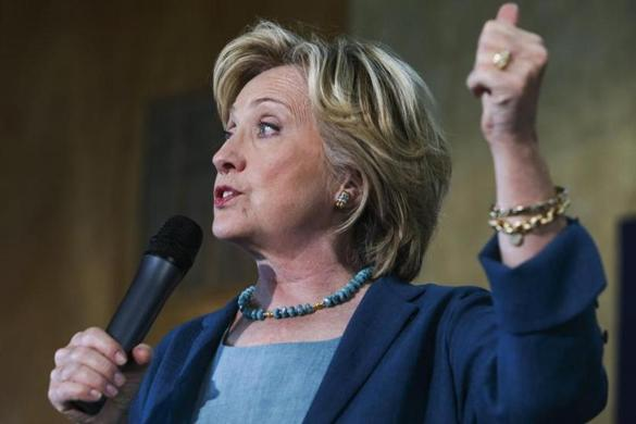 The shades are back: Hillary Clinton whipped out her sunglasses- which ...